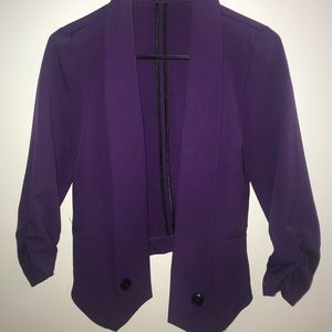 Maurices Jackets & Coats - Purple Open Cardigan